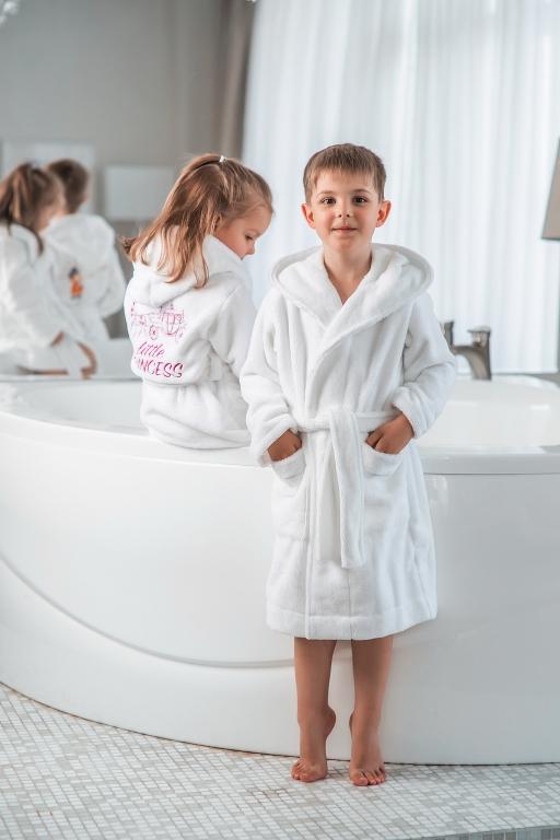 Детские халаты с капюшоном Premium бамбуковый
