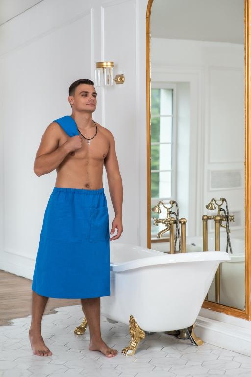 Мужские банные килты Килт мужской вафельный (универсальный размер)