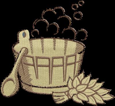 Рисунок для вышивки Баня