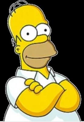 Рисунок для вышивки Гомер Симпсон 2