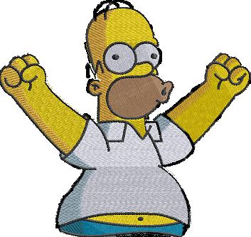 Рисунок для вышивки Гомер Симпсон 3